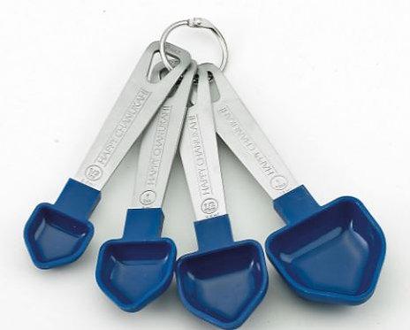 Set of 4 Dreidel Measuring Spoons w/ S/S Handles