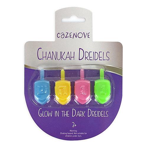 Pack of 4 Glow in the Dark Dreidels