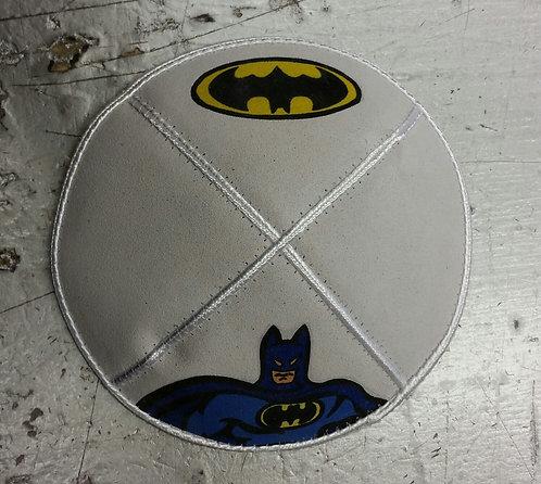 Batman Suede White Kippa