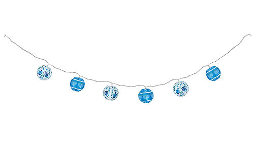 9 Ft Hanukkah Lantern String of Lights