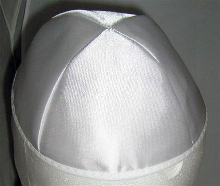 White Satin Kippa