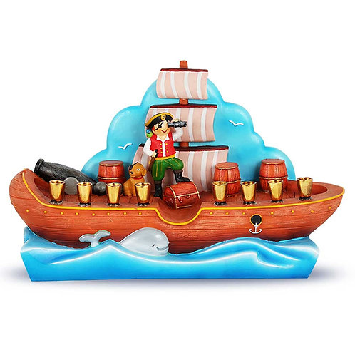 Poly Resin Pirate Ship Menorah