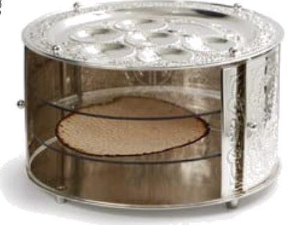 Nickel 3 Tier Seder Plate