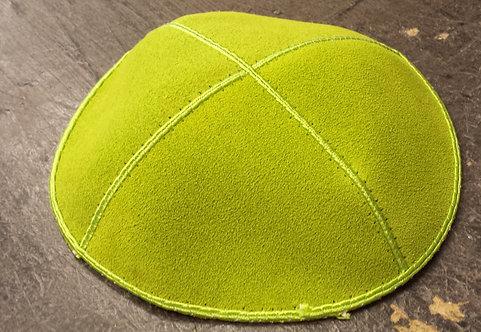 Lime Green Suede Kippa