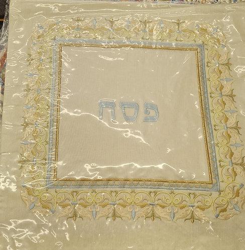 Embroidered Matzah Cover light