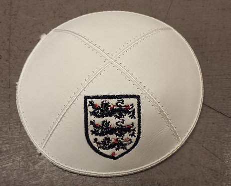 England (3 Lions) Leather Kippa