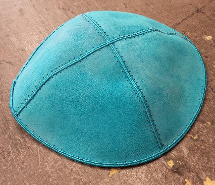 Turquoise Suede Kippa