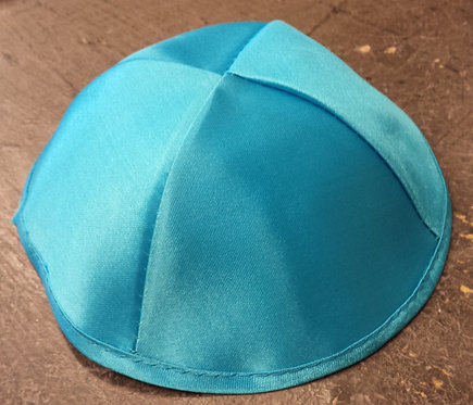 Light Blue Satin Kippa