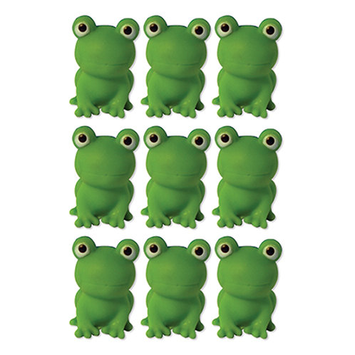 9 Squeezable Frogs