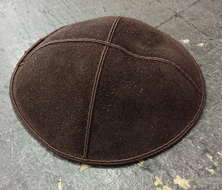 Brown Suede Kippa