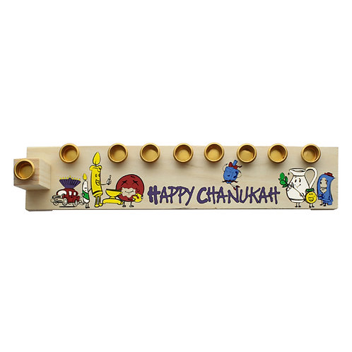 Create your Own Wood Menorah