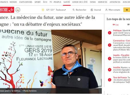 """""""On va débattre d'enjeux sociétaux...""""   Article paru dans La Dépêche du Midi"""