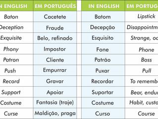 Falsos Cognatos: palavras facilmente confundidas em inglês.