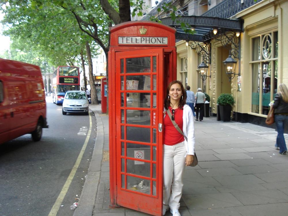 Cabine telefônica em Londres