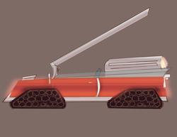 Gun Racer Vehicle.