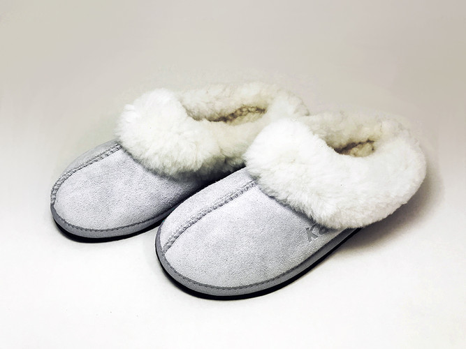 Wool Sleek with Collar Light grey Pair.j