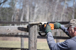 CR Fence Sawing
