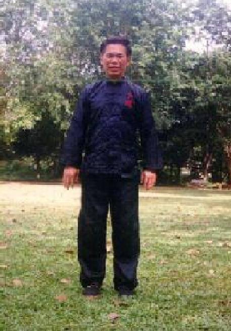 Gran Maestro Wong Kiew Kit mostrando Zen Parado