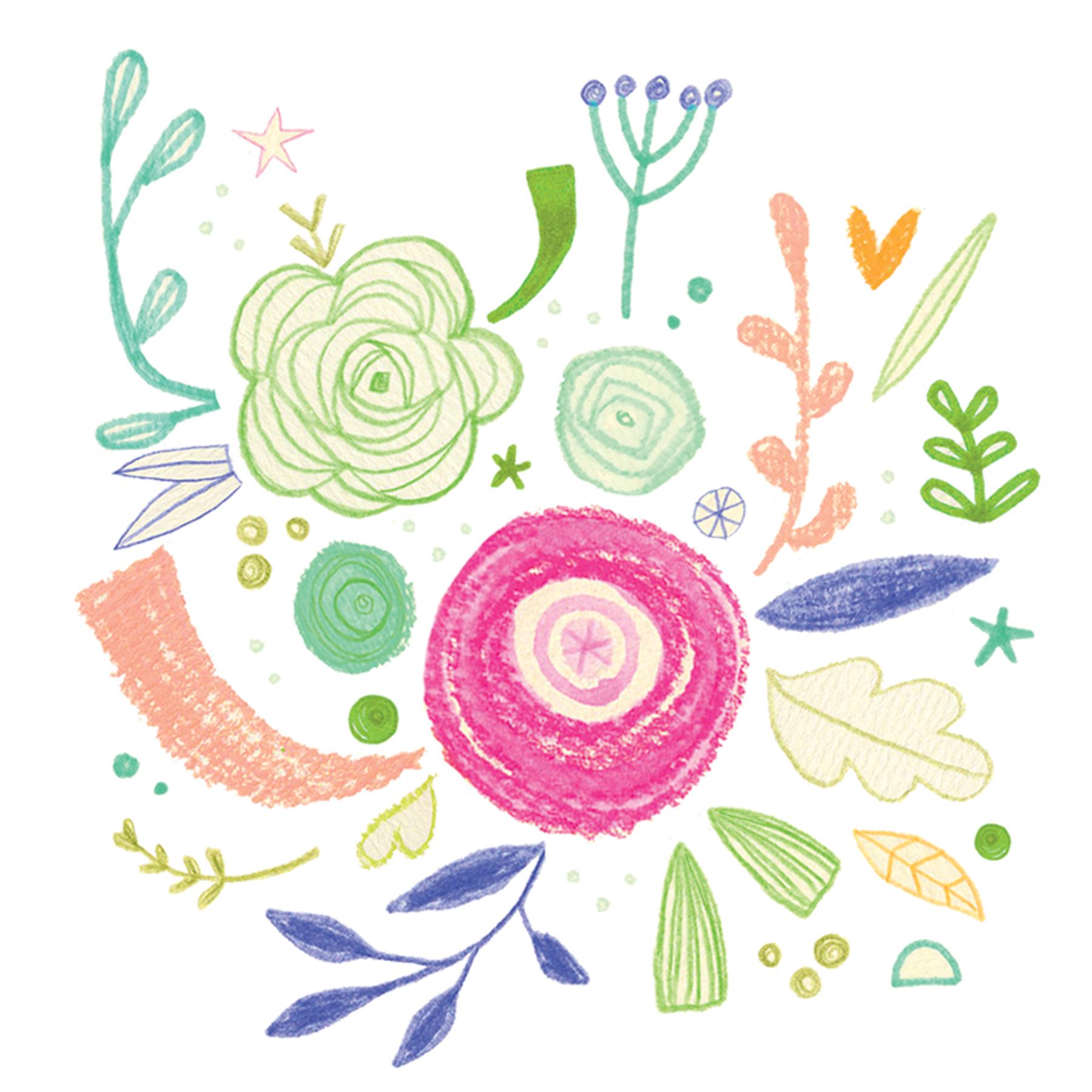 flower doodle arragement