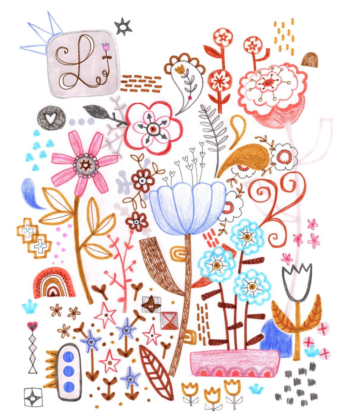Flower poster 8 x10 ILLUSTRATION_edited