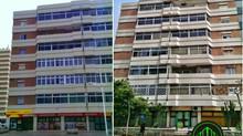 Fachada renovada en la calle Carvajal.