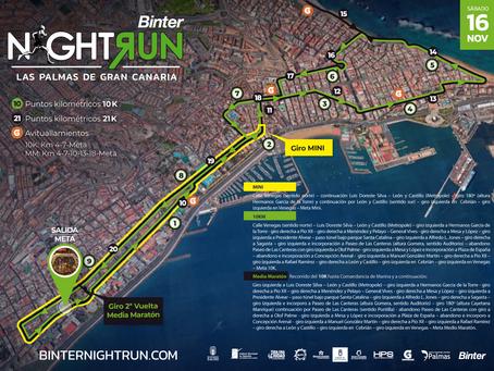 La séptima Binter NightRun Las Palmas de Gran Canaria anuncia recorrido
