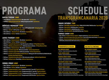 Programa de actos de la Transgrancanaria HG