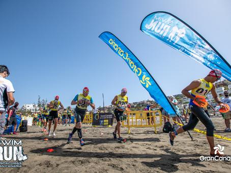 Viktors Vovrusko y Dácil Hernández imponen su ritmo en la SwimRun Maspalomas Gran Canaria