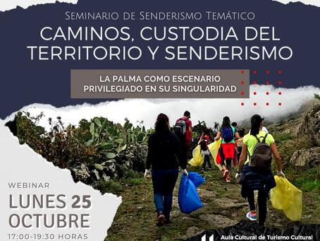 """Webinar """"Caminos, Custodia del Territorio y senderismo"""""""