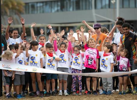 Cientos de niños disfrutan de la Transgrancanaria Kids en Las Palmas de Gran Canaria