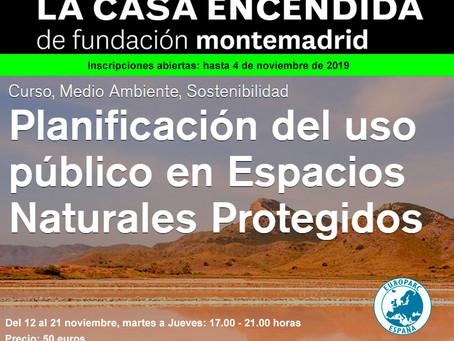 Curso: Planificación del uso público en Espacios Naturales protegidos