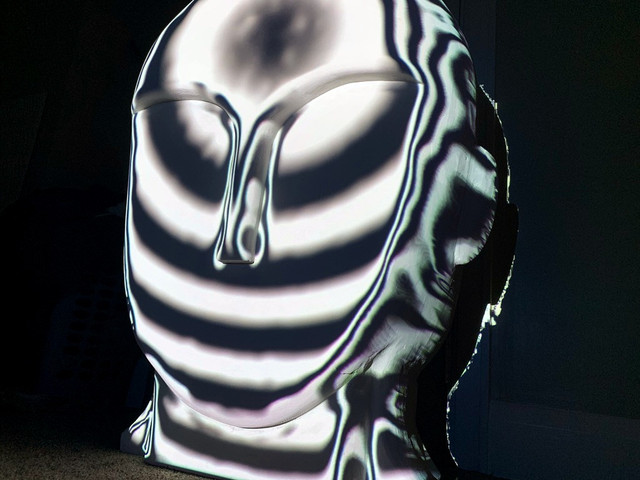 Projection Mapped Head Sculpture