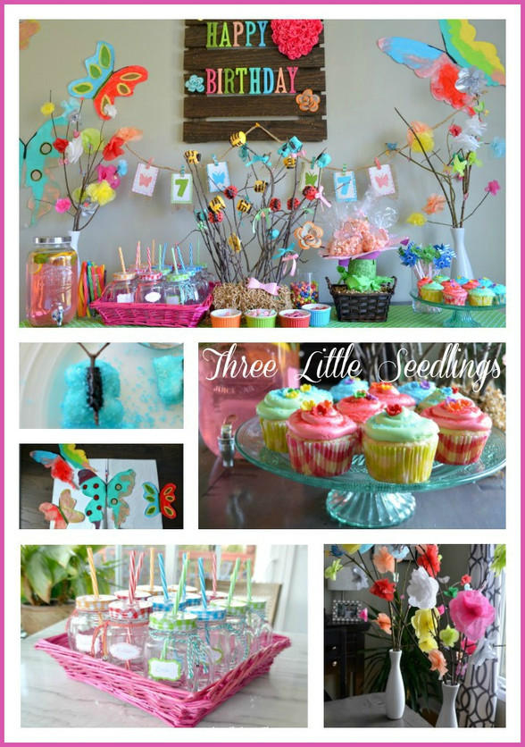 🌼Girl's 'Butterfly & Flower' Birthday Party