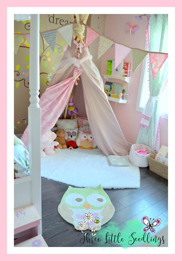 🍃DIY Teepee for Kid's Room