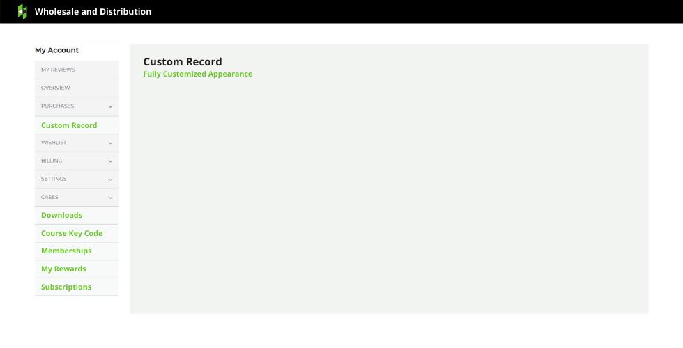 Display Custom Records Example