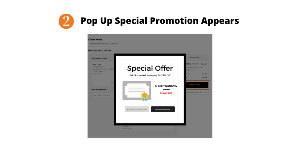 Special Promotion SuiteCommerce Pop Up