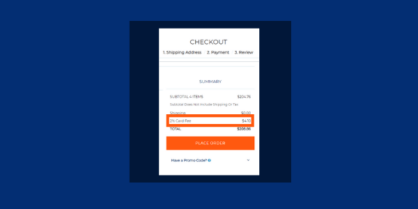 SuiteCommerce App Automatic Credit Card Fee