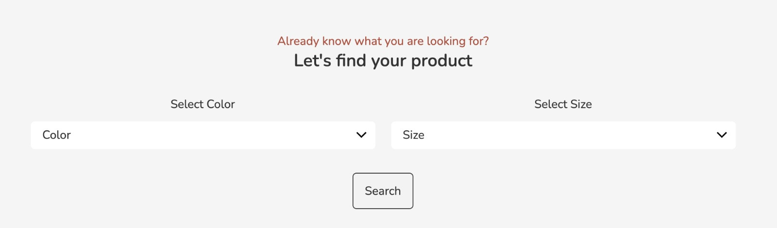 Let's find your product
