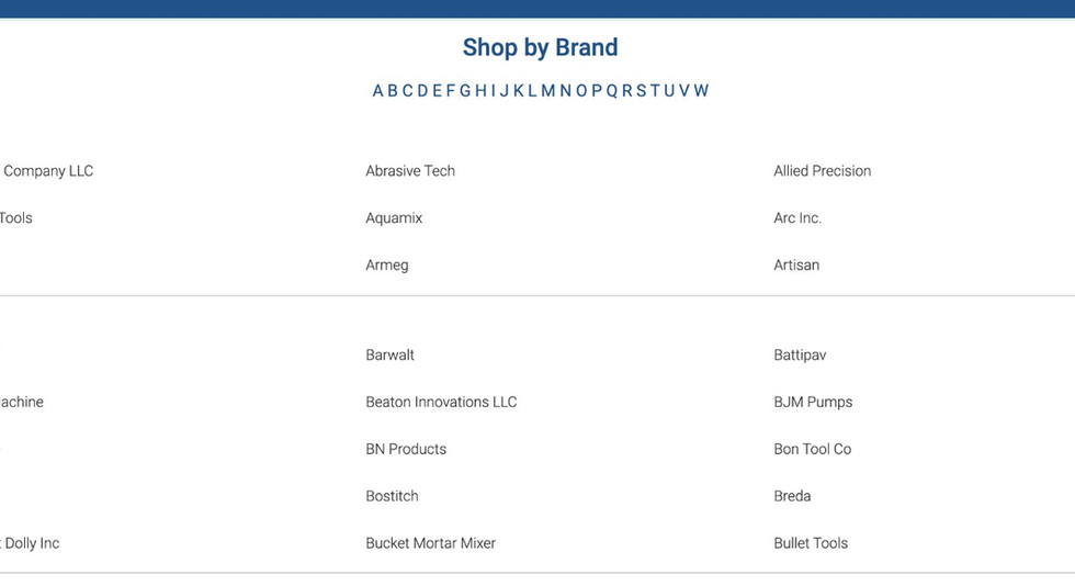 Shop by Brand Page