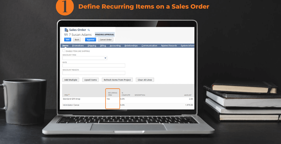 SuiteCommerce App Recurring Sales Order 1