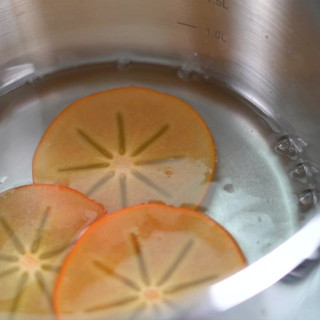 Poach persimmon