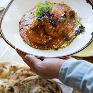 Butter chicken with guinea fowl