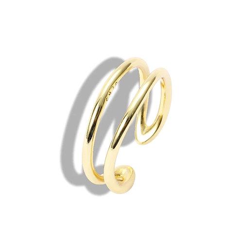 Vermeil two line open rings