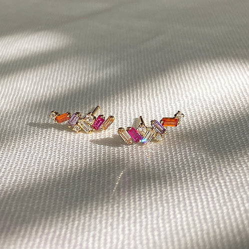 Color Crystal stud earrings