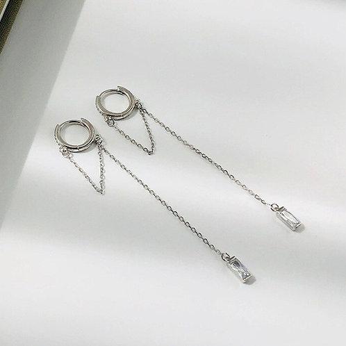Drop huggie earrings