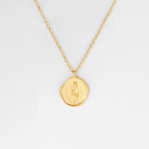 coin rose necklace