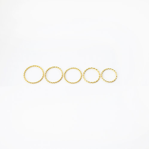 Vermeil Twisted Ring