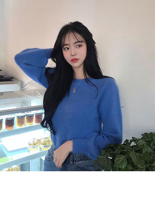 blue Angora knit