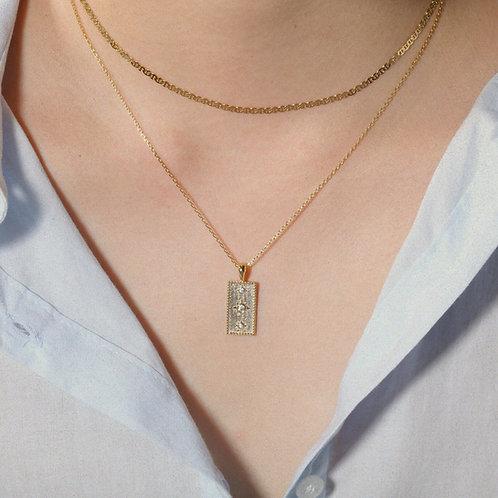 Rectangle pendant necklace