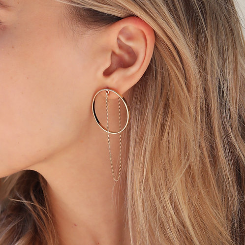 Circle and Line earrings